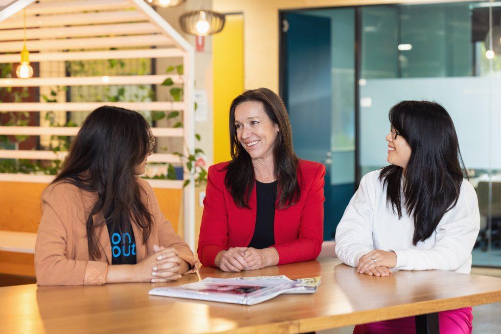 Founders Stephanie Khalil, Amanda Fay and Louise Teo.